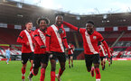 Southampton v Coventry City FA Youth cup at St Mary's Stadium. Southampton's Kegs Chauke scores Saint's third goal