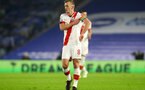 BRIGHTON, ENGLAND - DECEMBER 07: James Ward-Prowse of Southampton  during the Premier League match between Brighton & Hove Albion and Southampton at American Express Community Stadium on December 07, 2020 in Brighton, England. A limited number of fans (2000) are welcomed back to stadiums to watch elite football across England. This was following easing of restrictions on spectators in tiers one and two areas only. (Photo by Matt Watson/Southampton FC via Getty Images)