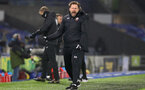 BRIGHTON, ENGLAND - DECEMBER 07: Ralph Hasenhuttl Southampton manager at the end of the Premier League match between Brighton & Hove Albion and Southampton at American Express Community Stadium on December 07, 2020 in Brighton, England. A limited number of fans (2000) are welcomed back to stadiums to watch elite football across England. This was following easing of restrictions on spectators in tiers one and two areas only. (Photo by Matt Watson/Southampton FC via Getty Images)