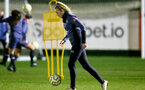 SOUTHAMPTON, ENGLAND - DECEMBER 09 : Kayla Rendall during Southampton Women's training session at Staplewood Complex on December 09, 2020 in Southampton, England. (Photo by Isabelle Field/Southampton FC via Getty Images)  (Photo by Isabelle Field/Southampton FC via Getty Images)