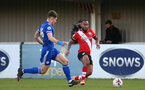 SOUTHAMPTON, ENGLAND - DECEMBER 12: Tyreke Johnson of Southampton during the Premier League 2 match between Southampton B Team and Leicester City at Snows Stadium on December 12, 2020 in Southampton, England. (Photo by Isabelle Field/Southampton FC via Getty Images)
