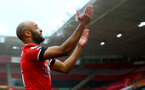 SOUTHAMPTON, ENGLAND - DECEMBER 13: Nathan Redmond of Southampton celebrates during the Premier League match between Southampton and Sheffield United at St Mary's Stadium on December 13, 2020 in Southampton, England. A limited number of spectators (2000) are welcomed back to stadiums to watch elite football across England. This was following easing of restrictions on spectators in tiers one and two areas only. (Photo by Matt Watson/Southampton FC via Getty Images)