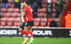 SOUTHAMPTON, ENGLAND - DECEMBER 13: Danny Ings(L) and Che Adams of Southampton during the Premier League match between Southampton and Sheffield United at St Mary's Stadium on December 13, 2020 in Southampton, England. A limited number of spectators (2000) are welcomed back to stadiums to watch elite football across England. This was following easing of restrictions on spectators in tiers one and two areas only. (Photo by Matt Watson/Southampton FC via Getty Images)