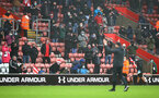 SOUTHAMPTON, ENGLAND - DECEMBER 13: Ralph Hasenhüttl of Southampton acknowledges fans during the Premier League match between Southampton and Sheffield United at St Mary's Stadium on December 13, 2020 in Southampton, England. A limited number of spectators (2000) are welcomed back to stadiums to watch elite football across England. This was following easing of restrictions on spectators in tiers one and two areas only. (Photo by Matt Watson/Southampton FC via Getty Images)