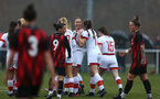WIMBORNE, ENGLAND - DECEMBER 13: Rachel Panting of Southampton celebrates scoring with her team mates  during The Vitality Women's FA Cup, first-round proper match between AFC Bournemouth and Southampton FC Women's at Verwood FC on December 13, 2020 in, Wimborne, England. (Photo by Isabelle Field/Southampton FC via Getty Images)