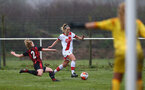 WIMBORNE, ENGLAND - DECEMBER 13: Shelly Provan of Southampton during The Vitality Women's FA Cup, first-round proper match between AFC Bournemouth and Southampton FC Women's at Verwood FC on December 13, 2020 in, Wimborne, England. (Photo by Isabelle Field/Southampton FC via Getty Images)