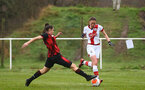 WIMBORNE, ENGLAND - DECEMBER 13:  Rachel Panting of Southampton during The Vitality Women's FA Cup, first-round proper match between AFC Bournemouth and Southampton FC Women's at Verwood FC on December 13, 2020 in, Wimborne, England. (Photo by Isabelle Field/Southampton FC via Getty Images)