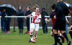 WIMBORNE, ENGLAND - DECEMBER 13: Charley Evans of Southampton during The Vitality Women's FA Cup, first-round proper match between AFC Bournemouth and Southampton FC Women's at Verwood FC on December 13, 2020 in, Wimborne, England. (Photo by Isabelle Field/Southampton FC via Getty Images)