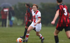 WIMBORNE, ENGLAND - DECEMBER 13: Molly Mott of Southampton during The Vitality Women's FA Cup, first-round proper match between AFC Bournemouth and Southampton FC Women's at Verwood FC on December 13, 2020 in, Wimborne, England. (Photo by Isabelle Field/Southampton FC via Getty Images)