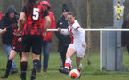 WIMBORNE, ENGLAND - DECEMBER 13: Georgie Freeland of Southampton during The Vitality Women's FA Cup, first-round proper match between AFC Bournemouth and Southampton FC Women's at Verwood FC on December 13, 2020 in, Wimborne, England. (Photo by Isabelle Field/Southampton FC via Getty Images)