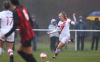 WIMBORNE, ENGLAND - DECEMBER 13: Cattlin Morris of Southampton during The Vitality Women's FA Cup, first-round proper match between AFC Bournemouth and Southampton FC Women's at Verwood FC on December 13, 2020 in, Wimborne, England. (Photo by Isabelle Field/Southampton FC via Getty Images)
