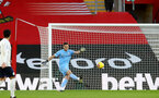 SOUTHAMPTON, ENGLAND - DECEMBER 19: Alex McCarthy of Southampton during the Premier League match between Southampton and Manchester City at St Mary's Stadium on December 19, 2020 in Southampton, England. A limited number of fans (2000) are welcomed back to stadiums to watch elite football across England. This was following easing of restrictions on spectators in tiers one and two areas only. (Photo by Matt Watson/Southampton FC via Getty Images)