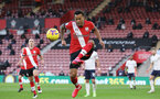 SOUTHAMPTON, ENGLAND - DECEMBER 19: Ryan Bertrand of Southampton during the Premier League match between Southampton and Manchester City at St Mary's Stadium on December 19, 2020 in Southampton, England. A limited number of fans (2000) are welcomed back to stadiums to watch elite football across England. This was following easing of restrictions on spectators in tiers one and two areas only. (Photo by Matt Watson/Southampton FC via Getty Images)