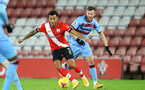 SOUTHAMPTON, ENGLAND - DECEMBER 29: Ryan Bertrand(L) of Southampton Andriy Yarmolenko (R) of West Ham during the Premier League match between Southampton and West Ham United at St Mary's Stadium on December 29, 2020 in Southampton, England. The match will be played without fans, behind closed doors as a Covid-19 precaution. (Photo by Matt Watson/Southampton FC via Getty Images)