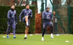 SOUTHAMPTON, ENGLAND - JANUARY 29: L to R Shane Long, Che Adams and Nathan Redmond during a Southampton FC training session at the Staplewood Campus on January 29, 2021 in Southampton, England. (Photo by Matt Watson/Southampton FC via Getty Images)