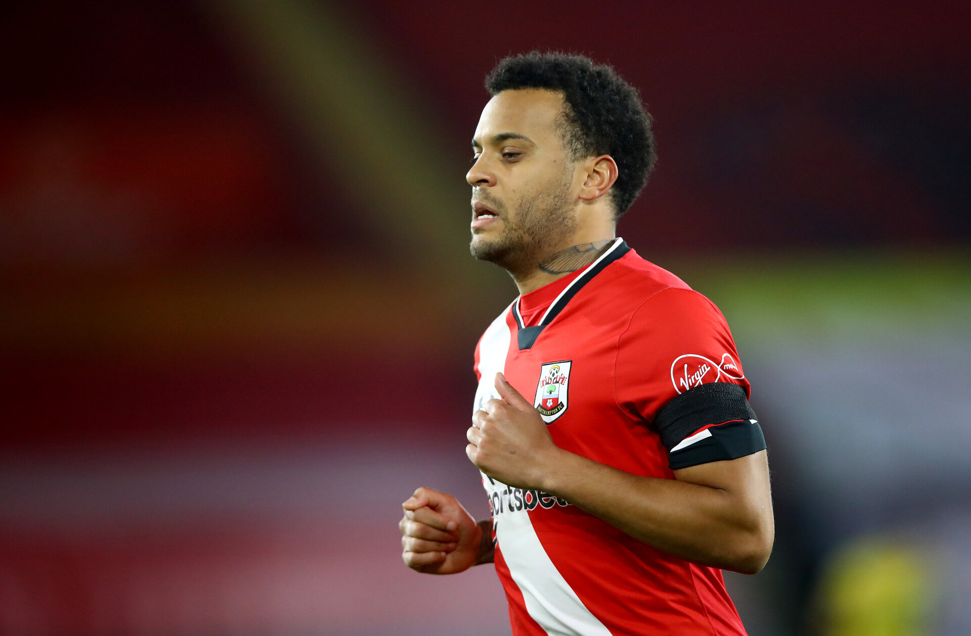 SOUTHAMPTON, ENGLAND - JANUARY 30: Ryan Bertrand of Southampton during the Premier League match between Southampton and Aston Villa at St Mary's Stadium on January 30, 2021 in Southampton, England. Sporting stadiums around the UK remain under strict restrictions due to the Coronavirus Pandemic as Government social distancing laws prohibit fans inside venues resulting in games being played behind closed doors. (Photo by Matt Watson/Southampton FC via Getty Images)