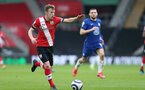 SOUTHAMPTON, ENGLAND - FEBRUARY 20: James Ward-Prowse of Southampton during the Premier League match between Southampton and Chelsea at St Mary's Stadium on February 20, 2021 in Southampton, England. Sporting stadiums around the UK remain under strict restrictions due to the Coronavirus Pandemic as Government social distancing laws prohibit fans inside venues resulting in games being played behind closed doors. (Photo by Matt Watson/Southampton FC via Getty Images)