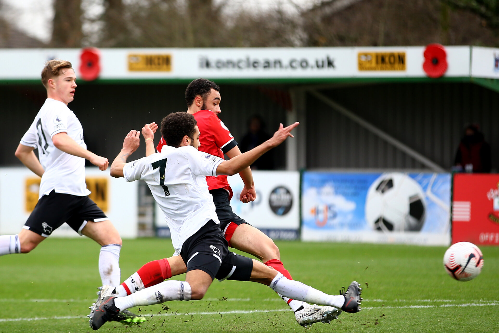 SOUTHAMPTON, ENGLAND - FEBRUARY 21: during Premier League 2 match between Southampton B Team and Derby County U23s at The Snows Stadium on February 21, 2021 in Southampton, England. (Photo by Isabelle Field/Southampton FC via Getty Images)