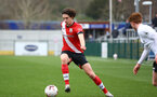 SOUTHAMPTON, ENGLAND - FEBRUARY 21: Ethan Burnett  of Southampton during Premier League 2 match between Southampton B Team and Derby County U23s at The Snows Stadium on February 21, 2021 in Southampton, England. (Photo by Isabelle Field/Southampton FC via Getty Images)