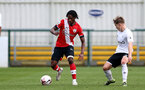 SOUTHAMPTON, ENGLAND - FEBRUARY 21: Zuriel Otseh-Taiwo (L) of Southampton during Premier League 2 match between Southampton B Team and Derby County U23s at The Snows Stadium on February 21, 2021 in Southampton, England. (Photo by Isabelle Field/Southampton FC via Getty Images)