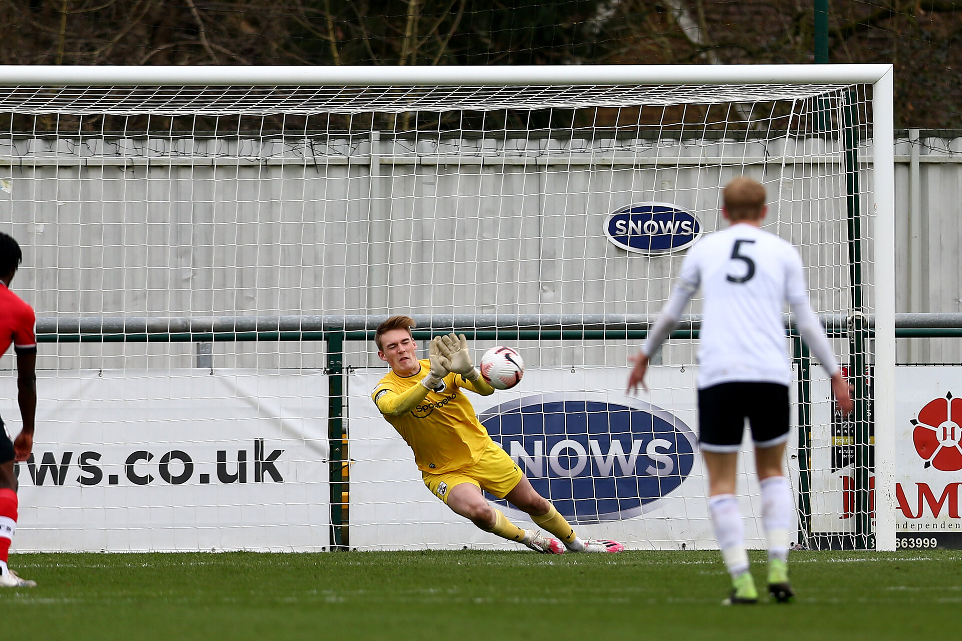SOUTHAMPTON, ENGLAND - FEBRUARY 21: Jack Bycroft  of Southampton during Premier League 2 match between Southampton B Team and Derby County U23s at The Snows Stadium on February 21, 2021 in Southampton, England. (Photo by Isabelle Field/Southampton FC via Getty Images)