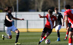 SOUTHAMPTON, ENGLAND - FEBRUARY 27: Seamas Keogh of Southampton during Premier League 2 match between Southampton B Team and Manchester United U23s at The Snows Stadium on February 27, 2021 in Southampton, England. (Photo by Isabelle Field/Southampton FC via Getty Images)