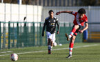SOUTHAMPTON, ENGLAND - FEBRUARY 27: Kami Doyle of Southampton during Premier League 2 match between Southampton B Team and Manchester United U23s at The Snows Stadium on February 27, 2021 in Southampton, England. (Photo by Isabelle Field/Southampton FC via Getty Images)