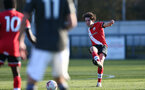 SOUTHAMPTON, ENGLAND - FEBRUARY 27: Ethan Burnett of Southampton during Premier League 2 match between Southampton B Team and Manchester United U23s at The Snows Stadium on February 27, 2021 in Southampton, England. (Photo by Isabelle Field/Southampton FC via Getty Images)