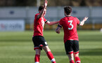 SOUTHAMPTON, ENGLAND - MARCH 06: Will Ferry goal celebration during the Premier League 2 match between  Southampton B Team and Arsenal at Snows Stadium on March 06, 2021 in Southampton, England. (Photo by Chris Moorhouse/Southampton FC via Getty Images)