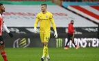 SHEFFIELD, ENGLAND - MARCH 06: Fraser Forster of Southampton during the Premier League match between Sheffield United and Southampton at Bramall Lane on March 06, 2021 in Sheffield, England. (Photo by Matt Watson/SouthamptonFC)
