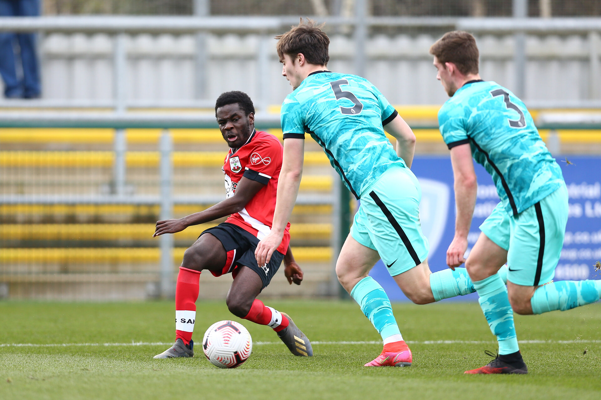SOUTHAMPTON, ENGLAND - MARCH 21:  during the Premier League 2 match between Southampton B Team and Liverpool at the Snows Stadium on March 21, 2021 in Southampton, England.  (Photo by Isabelle Field/Southampton FC via Getty Images)