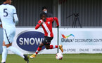 SOUTHAMPTON, ENGLAND - MARCH 27: Zuriel Otseh-Taiwo of Southampton during the Premier League U18s match between Southampton U18 and  Chelsea at Snows Stadium on March 27, 2021 in Southampton, England. (Photo by Isabelle Field/Southamtpon FC)
