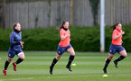 SOUTHAMPTON, ENGLAND - April 01: Kirsty Whitton (center) during Southampton Women's training session at Staplewood Complex on April 01, 2021 in Southampton, England.  (Photo by Isabelle Field/Southampton FC via Getty Images)