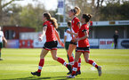 SOUTHAMPTON, ENGLAND - APRIL 04: Lucia Kendall of Southampton celebrates opening the scoring with team mates during the Vitality Women's FA Cup second round match between Southampton Women and Plymouth Argyle Women at The Snows Stadium on April 04, 2021 in Southampton, England. (Photo by Isabelle Field/Southampton FC via Getty Images)