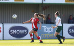 SOUTHAMPTON, ENGLAND - APRIL 04: Georgie Freeland (L) of Southampton during the Vitality Women's FA Cup second round match between Southampton Women and Plymouth Argyle Women at The Snows Stadium on April 04, 2021 in Southampton, England. (Photo by Isabelle Field/Southampton FC via Getty Images)