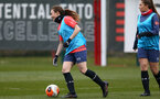 SOUTHAMPTON, ENGLAND - OCTOBER 21: Emily Castagna during Southampton Women's training session at Staplewood Complex on October 21, 2020 in Southampton, England. (Photo by Isabelle Field/Southampton FC via Getty Images)