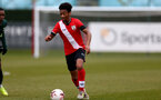 SOUTHAMPTON, ENGLAND - APRIL 10: Fedel Ross-Lang of Southampton during the Premier League U18s match between Southampton U18 and Tottenham Hotspur at Staplewood Campus on April 10, 2021 in Southampton, England. (Photo by Isabelle Field/Southampton FC via Getty Images)