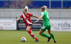 SOUTHAMPTON, ENGLAND - APRIL 11: Shelly Provan  of Southampton during the Vitality Women's FA Cup third round match between Southampton Women and Yeovil United Women at The Snows Stadium on April 11, 2021 in Southampton, England. (Photo by Isabelle Field/Southampton FC via Getty Images)