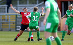 SOUTHAMPTON, ENGLAND - APRIL 11: Shannon Siewright (L) of Southampton during the Vitality Women's FA Cup third round match between Southampton Women and Yeovil United Women at The Snows Stadium on April 11, 2021 in Southampton, England. (Photo by Isabelle Field/Southampton FC via Getty Images)