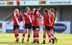 SOUTHAMPTON, ENGLAND - APRIL 11: Rachel Panting of Southampton celebrates scoring with team mates  during the Vitality Women's FA Cup third round match between Southampton Women and Yeovil United Women at The Snows Stadium on April 11, 2021 in Southampton, England. (Photo by Isabelle Field/Southampton FC via Getty Images)