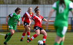 SOUTHAMPTON, ENGLAND - APRIL 11: Kirsty Whitton of Southampton during the Vitality Women's FA Cup third round match between Southampton Women and Yeovil United Women at The Snows Stadium on April 11, 2021 in Southampton, England. (Photo by Isabelle Field/Southampton FC via Getty Images)