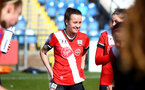SOUTHAMPTON, ENGLAND - APRIL 11: Sophia Pharoah of Southampton during the Vitality Women's FA Cup third round match between Southampton Women and Yeovil United Women at The Snows Stadium on April 11, 2021 in Southampton, England. (Photo by Isabelle Field/Southampton FC via Getty Images)