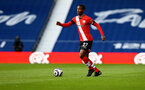 WEST BROMWICH, ENGLAND - APRIL 12: Ibrahima Diallo of Southampton during the Premier League match between West Bromwich Albion and Southampton at The Hawthorns on April 12, 2021 in West Bromwich, England. Sporting stadiums around the UK remain under strict restrictions due to the Coronavirus Pandemic as Government social distancing laws prohibit fans inside venues resulting in games being played behind closed doors. (Photo by Matt Watson/Southampton FC via Getty Images)