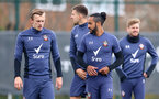 SOUTHAMPTON, ENGLAND - APRIL 14: James Ward-Prowse(L) and Theo Walcott during a Southampton FC training session at the Staplewood Campus, on April 14, 2021 in Southampton, England. (Photo by Matt Watson/Southampton FC via Getty Images)