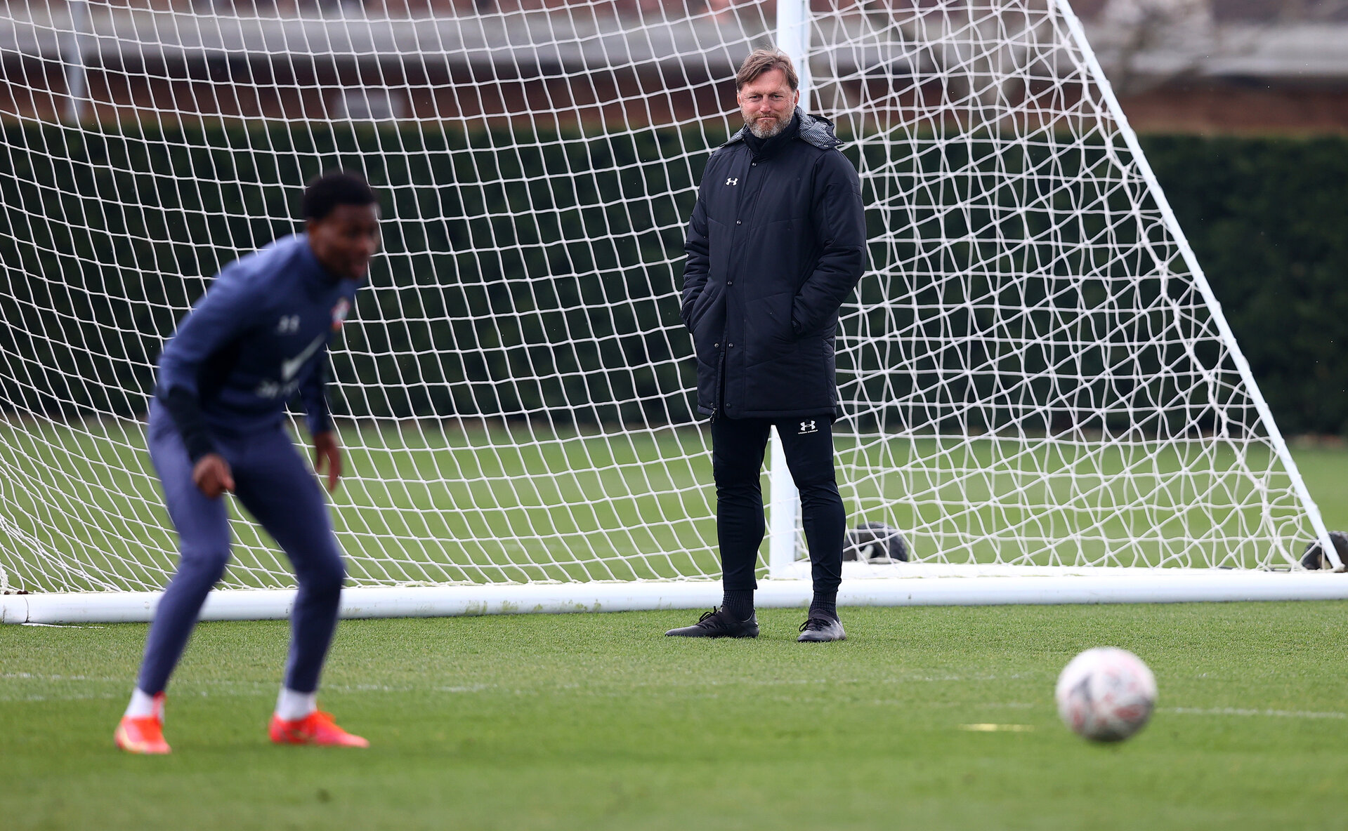 SOUTHAMPTON, ENGLAND - APRIL 14: Southampton manager Ralph Hasenhüttl during a Southampton FC training session at the Staplewood Campus, on April 14, 2021 in Southampton, England. (Photo by Matt Watson/Southampton FC via Getty Images)