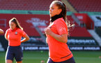SOUTHAMPTON, ENGLAND - April 22: Georgie Freeland during Southampton Women's training session at St Mary's Stadium on April 22, 2021 in Southampton, England.  (Photo by Isabelle Field/Southampton FC via Getty Images)