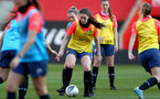 SOUTHAMPTON, ENGLAND - April 22:  during Southampton Women's training session at St Mary's Stadium on April 22, 2021 in Southampton, England.  (Photo by Isabelle Field/Southampton FC via Getty Images)