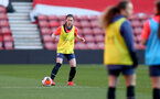 SOUTHAMPTON, ENGLAND - April 22: Harriet Eastham during Southampton Women's training session at St Mary's Stadium on April 22, 2021 in Southampton, England.  (Photo by Isabelle Field/Southampton FC via Getty Images)