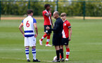 READING, ENGLAND - APRIL 27: Lewis Payne (R) of Southampton ahead of the Premier League U18s match between Reading and Southampton U18s at Bearwood Park Training Ground on April 27, 2021 in Reading, England. (Photo by Isabelle Field/Southampton FC via Getty Images)