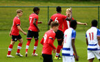 READING, ENGLAND - APRIL 27: Jem Hewlett of Southampton celebrates opening the scoring with his team mates during the Premier League U18s match between Reading and Southampton U18s at Bearwood Park Training Ground on April 27, 2021 in Reading, England. (Photo by Isabelle Field/Southampton FC via Getty Images)